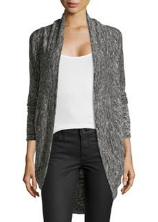 Max Studio Stretch-Knit Cocoon Cardigan, Black/Ivory