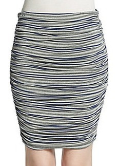 Max Studio Striped Ruched Mini Skirt
