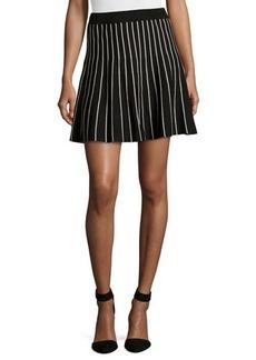 Max Studio Striped Stretch-Knit Circle Skirt