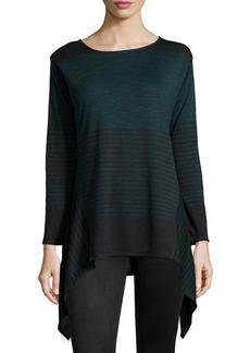 Max Studio Striped Tunic Sweater