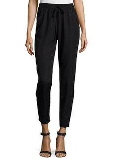 Max Studio Tapered Drawstring Pants, Black