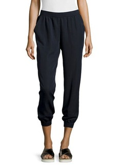 Max Studio Twill Cropped Jogger Pants
