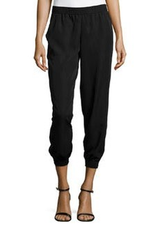 Max Studio Twill Jogger Pants, Black