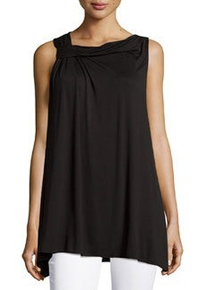 Max Studio Twist-Neck Sleeveless Top, Black