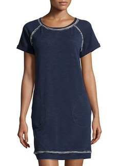 Max Studio Weekend Short-Sleeve Terry-Lined Jersey Dress