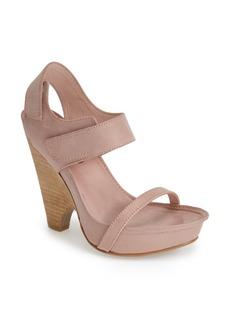 MAXSTUDIO 'Nightly' Demi-Wedge Leather Sandal (Women)