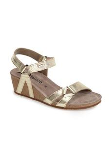 Mephisto 'Muguet' Quarter Strap Wedge Sandal (Women)