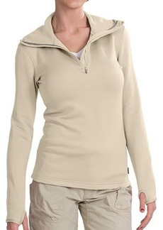 Merrell Mea Silken Fleece Sweatshirt - Zip Neck, Hooded (For Women)
