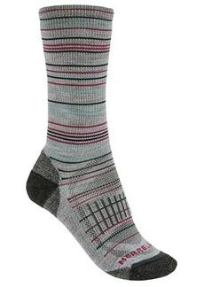 Merrell Scamper Stripe Crew Socks - Merino Wool (For Women)