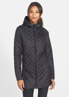 Merrell 'Soleil Mixer' Hooded Quilted Long Coat