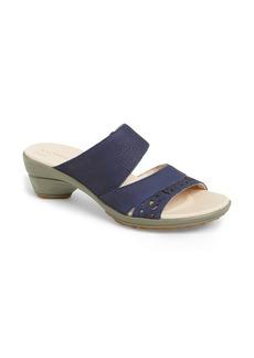 Merrell 'Veranda' Perforated Leather Slide Sandal (Women)