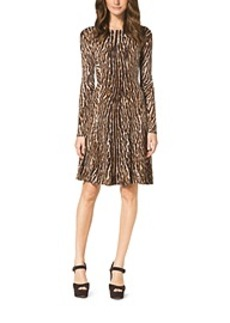 Animal-Print Sweater Dress