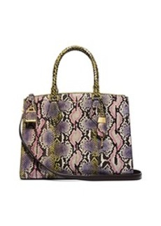 Casey Large Hand-Painted Python Satchel
