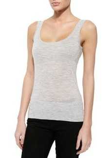 Cashmere Tank Top, Pearl Gray Melange   Cashmere Tank Top, Pearl Gray Melange