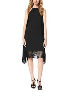 Chain-Halter Fringe Dress