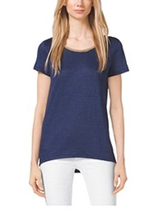 Chain-Neck Jersey Top