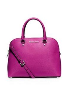 Cindy Large Saffiano Leather Satchel