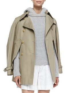 Convertible Cape/Trench Jacket   Convertible Cape/Trench Jacket