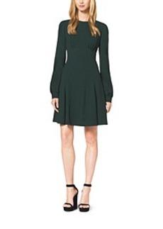 Crepe Sablé Cady Mini Flare Dress
