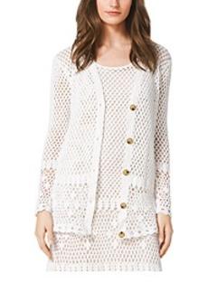 Crocheted Cotton Cardigan