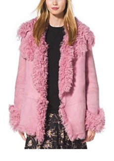 Cropped Shearling Coat