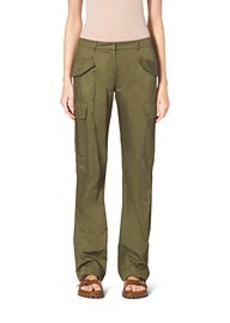 Crushed-Cotton Cargo Pants