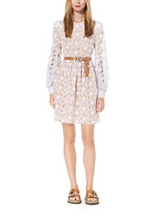 Crystal-Embroidered Floral Organza Dress
