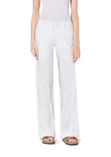 Cuffed Crushed-Cotton Trousers