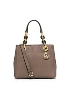 Cynthia Small Leather Satchel