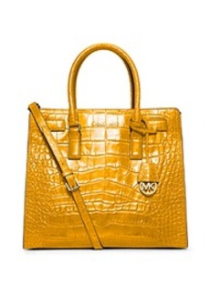Dillon Large Embossed-Leather Tote