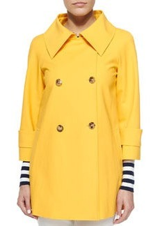 Double-Breasted Raincoat, Daffodil   Double-Breasted Raincoat, Daffodil