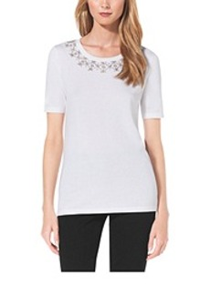 Embellished Cotton T-Shirt
