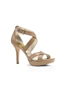 Evie Patent-Leather Platform Sandal