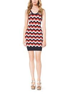 Fine-Knit Chevron Dress