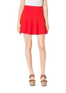 Flared Crumpled-Crepe Skirt
