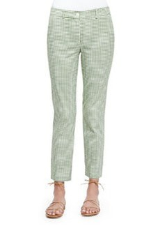 Gingham Check Ankle Pants, Lawn   Gingham Check Ankle Pants, Lawn