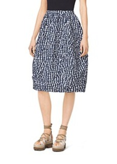 Gingham Crushed-Taffeta Dance Skirt