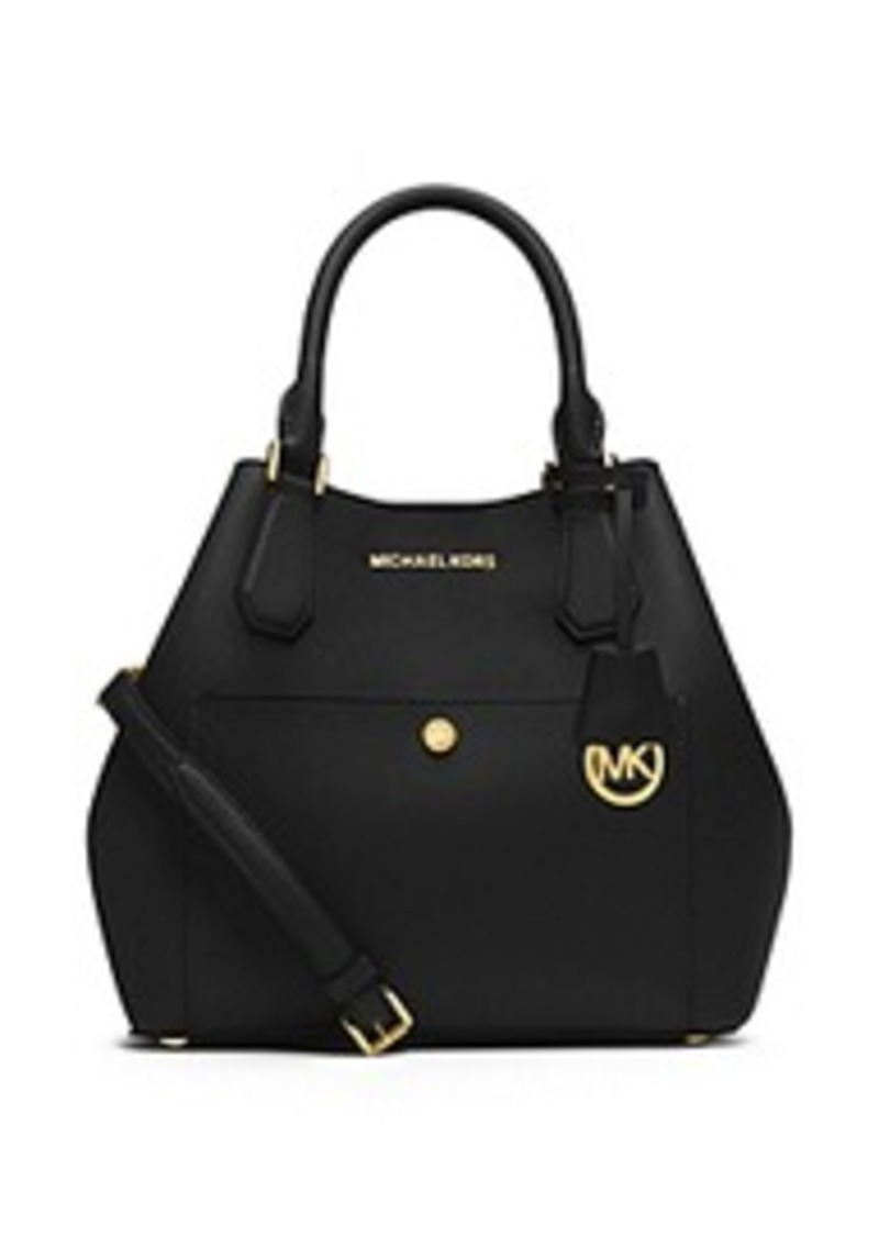 michael kors greenwich large saffiano leather satchel. Black Bedroom Furniture Sets. Home Design Ideas