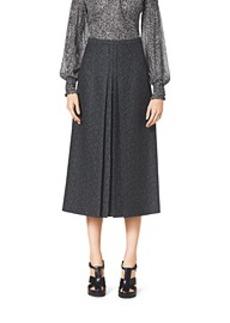 Herringbone Jacquard Wool Skirt