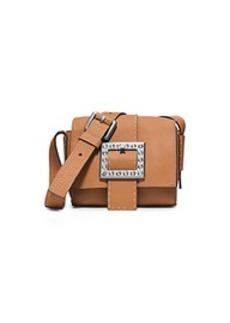 Janey Small Pavé-Embellished Leather Crossbody