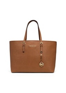 Jet Set Travel Multifunction Saffiano Leather Tote