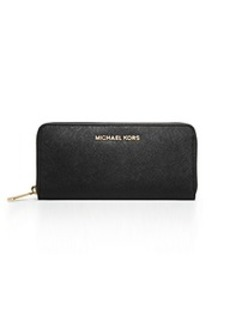 Jet Set Travel Saffiano Leather Continental Wallet