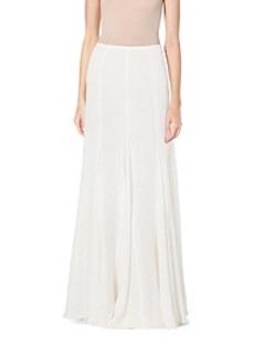 Linen-Gauze Maxi Skirt