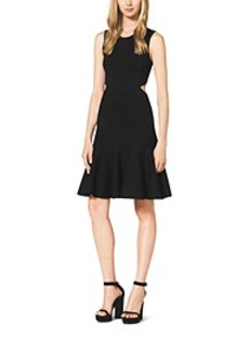 Merino Wool Cutout Flare Dress