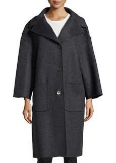 Michael Kors 3-Button Wool Car Coat, Charcoal