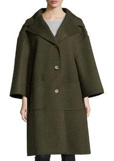 Michael Kors 3-Button Wool Car Coat, Olive