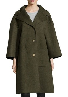 Michael Kors 3-Button Wool Car Coat, Olive