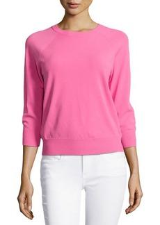 Michael Kors 3/4-Sleeve Knit Top, Carnation