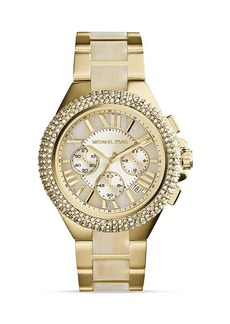 Michael Kors Acetate & Gold-Tone Camille Glitz Watch, 43mm