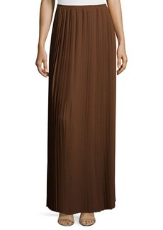 Michael Kors All-Around Pleated Long Skirt, Nutmeg